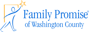 """A man reaching for a star and the words """"Family Promise of Washington County""""."""