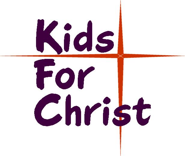 "Orange Bethlehem Star with the words ""Kids For Christ""."